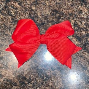 Accessories - Red Barrette Bow